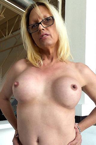 Mature blonde shemale